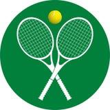 Icona delle racchette di tennis Fotografia Stock Libera da Diritti