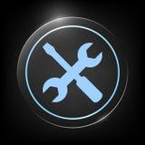 Icona delle regolazioni - chiave e cacciavite Fotografia Stock