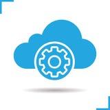 Icona delle regolazioni di stoccaggio della nuvola illustrazione di stock