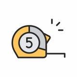 Icona delle roulette della costruzione Immagini Stock Libere da Diritti