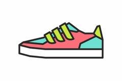 Icona delle scarpe da tennis Fotografie Stock