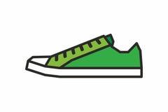 Icona delle scarpe da tennis Immagine Stock Libera da Diritti