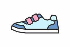 Icona delle scarpe da tennis Immagini Stock
