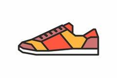 Icona delle scarpe da tennis Fotografia Stock