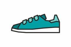 Icona delle scarpe da tennis Fotografia Stock Libera da Diritti