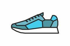 Icona delle scarpe da tennis Immagine Stock