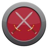 Icona delle spade Immagine Stock