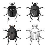 icona dello Dor-scarabeo nello stile del fumetto isolata su fondo bianco Illustrazione di vettore delle azione di simbolo degli i Immagini Stock