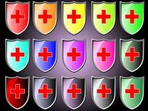 Icona dello schermo con la croce rossa royalty illustrazione gratis