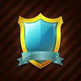 Icona dello schermo di sicurezza dell'oro illustrazione vettoriale