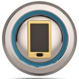 Icona dello Smart Phone 3d isolata su fondo bianco illustratio 3D illustrazione vettoriale