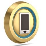 Icona dello Smart Phone 3d isolata su fondo bianco illustratio 3D illustrazione di stock