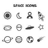 Icona dello spazio Immagini Stock