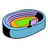 Icona dello stadio di calcio di calcio, fumetto dell'icona Fotografia Stock