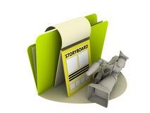 Icona dello Storyboard Fotografie Stock