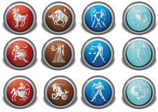 Icona dello zodiaco Fotografia Stock