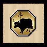 Icona dello zodiaco del bue Fotografia Stock Libera da Diritti