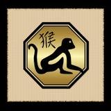 Icona dello zodiaco della scimmia Fotografia Stock Libera da Diritti