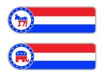 Icona democratica e repubblicana Immagine Stock Libera da Diritti