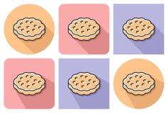 Icona descritta del biscotto illustrazione vettoriale