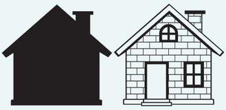 Icona dettagliata della casa Fotografia Stock Libera da Diritti