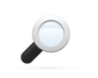 Icona dettagliata di vetro della lente Immagini Stock Libere da Diritti