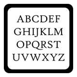 Icona di ABC dei bambini, stile semplice Immagine Stock