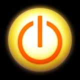 Icona di accensione Immagini Stock Libere da Diritti