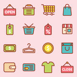 Icona di acquisto di commercio elettronico Fotografia Stock