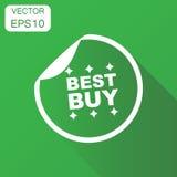 Icona di acquisto di Best Buy Pittogramma dell'autoadesivo di vendita di concetto di affari Fotografie Stock