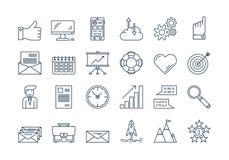 01 icona di AFFARI del profilo messa Fotografia Stock