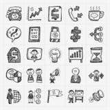 Icona di affari di scarabocchio Immagini Stock
