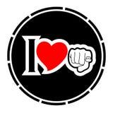 Icona di amore Fotografie Stock Libere da Diritti