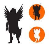 Icona di angelo Immagine Stock