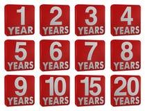 Icona di anno Immagini Stock Libere da Diritti