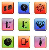 Icona di App di affari Fotografia Stock Libera da Diritti