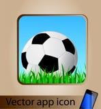 Icona di app di vettore per il telefono mobile Immagine Stock