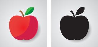 Icona di Apple, progettazione di vettore, succosa immagine stock