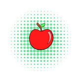 Icona di Apple, stile di Pop art Immagini Stock