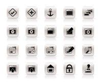 Icona di applicazione, di programmazione, del server e del calcolatore illustrazione di stock