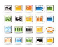 Icona di applicazione, di programmazione, del server e del calcolatore illustrazione vettoriale
