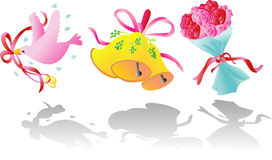 Icona di arte di clip del biglietto di S. Valentino Fotografia Stock