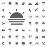 Icona di aumento di Sun Icone di vettore del tempo messe Fotografie Stock Libere da Diritti