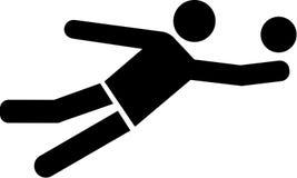 Icona di beach volley Immagine Stock Libera da Diritti