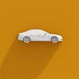 icona di bianco dell'automobile 3d Fotografia Stock Libera da Diritti