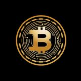 Icona di Bitcoin Fotografie Stock Libere da Diritti