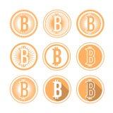 Icona di Bitcoin Fotografia Stock Libera da Diritti