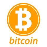 Icona di Bitcoin, logo della moneta Siluetta cripto di simbolo di valuta Concetto di commercio elettronico Fotografia Stock