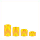 Icona di Bitcoin nel telaio giallo Immagine Stock Libera da Diritti