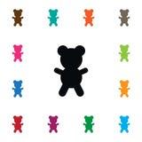 Icona di Bruin Teddy Vector Element Can Be ha usato per l'orsacchiotto, Bruin, concetto di progetto dell'orso Fotografie Stock Libere da Diritti
